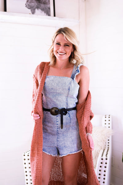 The Rylee Denim Romper