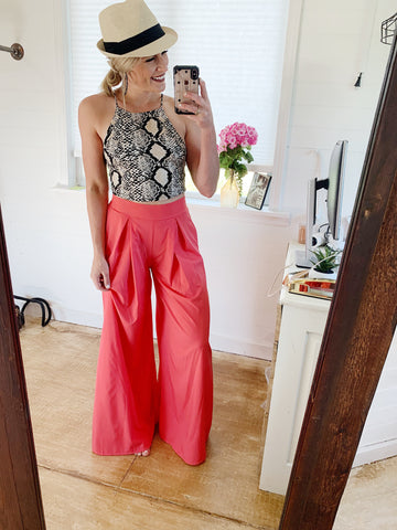 The Colee Trousers in Coral