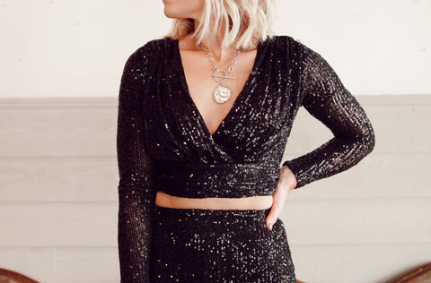 The Bellagio Sequin Crop Top