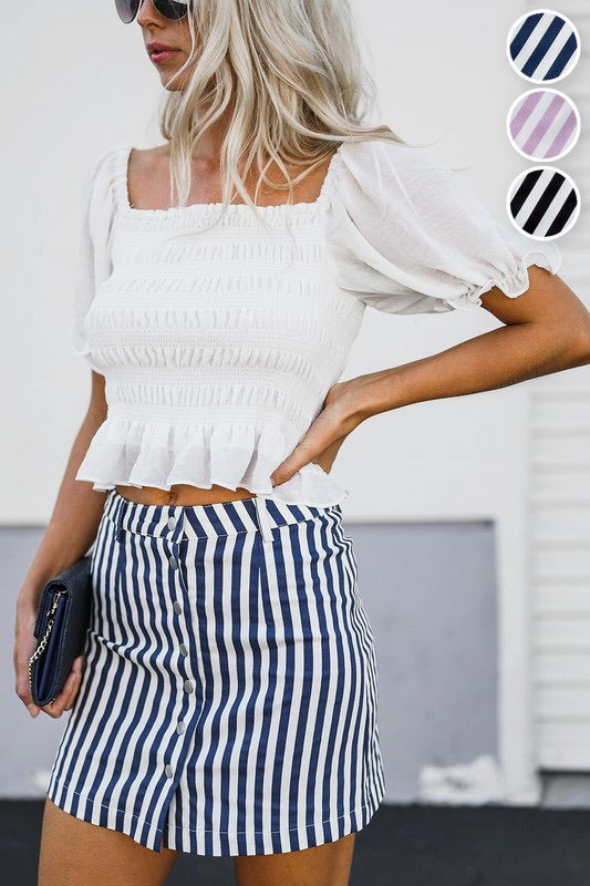 The Ainsley Striped Skirt