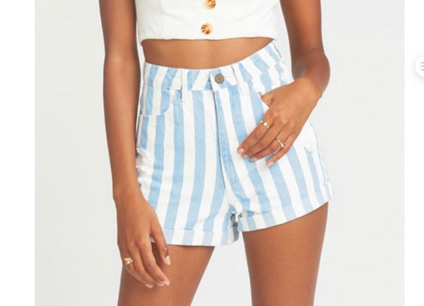 Show Me Your MuMu Nautilus Roll Up Shorts