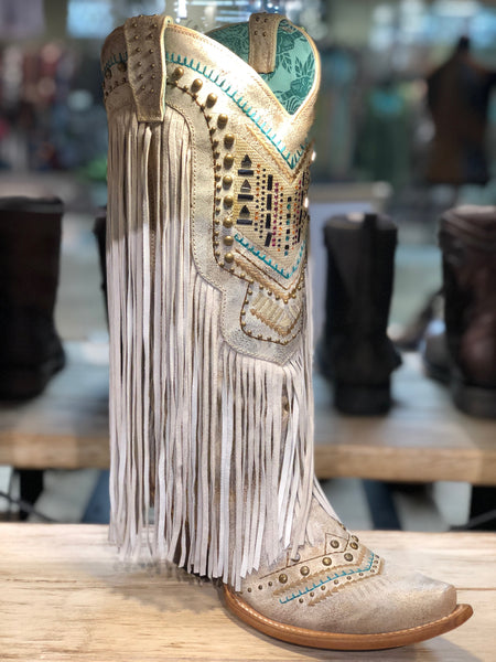 The Corral Showstopper Fringe Boot