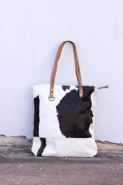 The Emerald Cowhide Market Tote