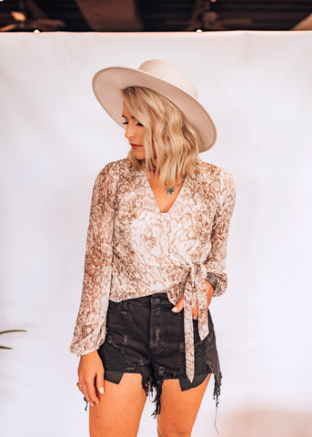 The Sidewinder Wrap Blouse