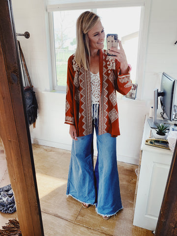 The Heather Embroidered Kimono