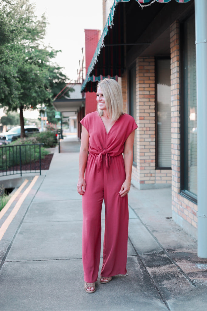 The Cadence Jumpsuit in Mauve