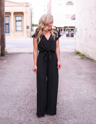 The Cadence Jumpsuit in Black