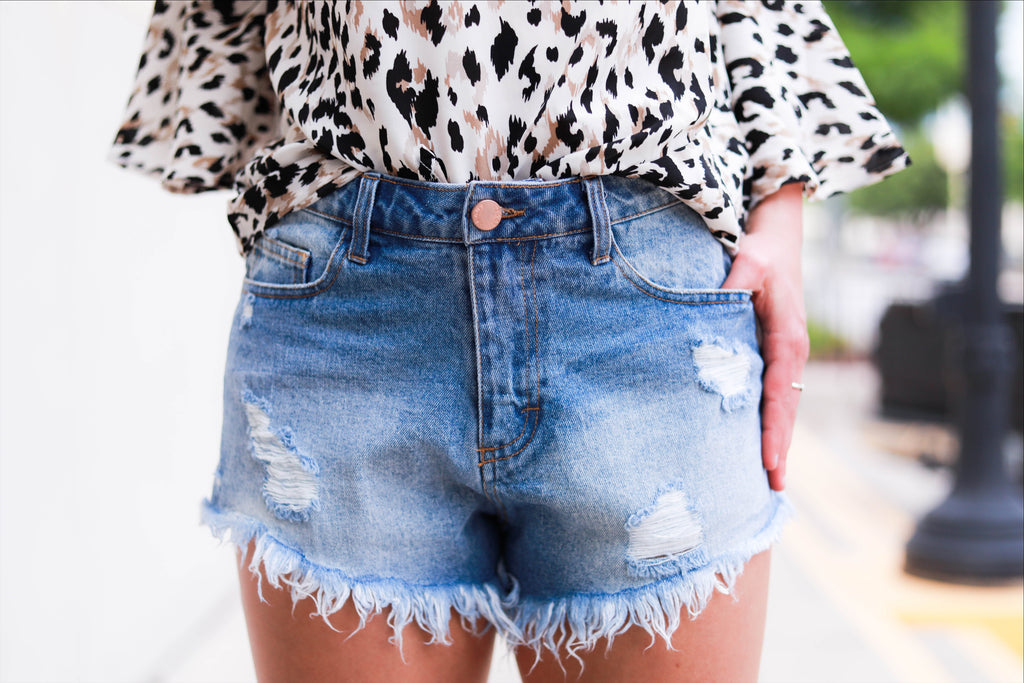 The Camila Short in Denim