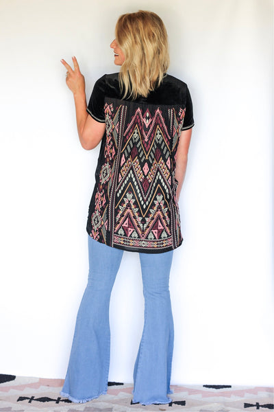 The Sage California Moonrise Embroidered Top