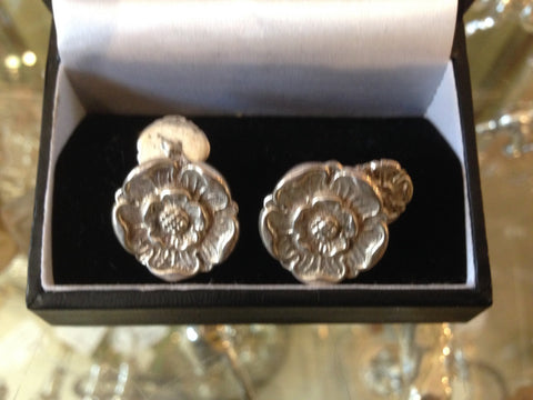 Yorkshire rose cuff links