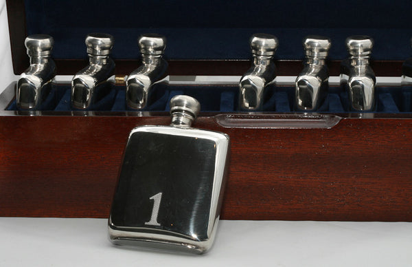 10 Pewter Hip Flask Peg Markers