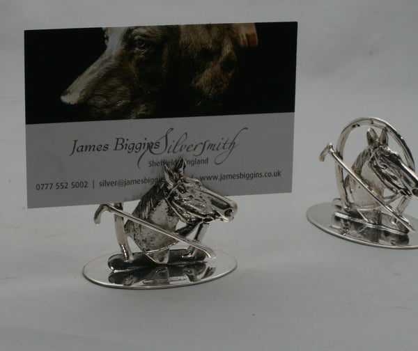 Contemporary Horse and crop menu holders