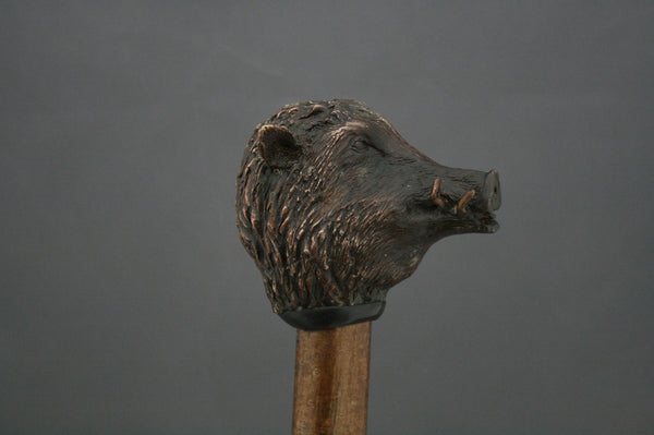 Wild Boar Bronze walking/wading stick