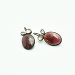 Load image into Gallery viewer, Garnet Silver Earrings