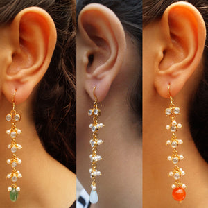 Descending Crystal Drop Earrings
