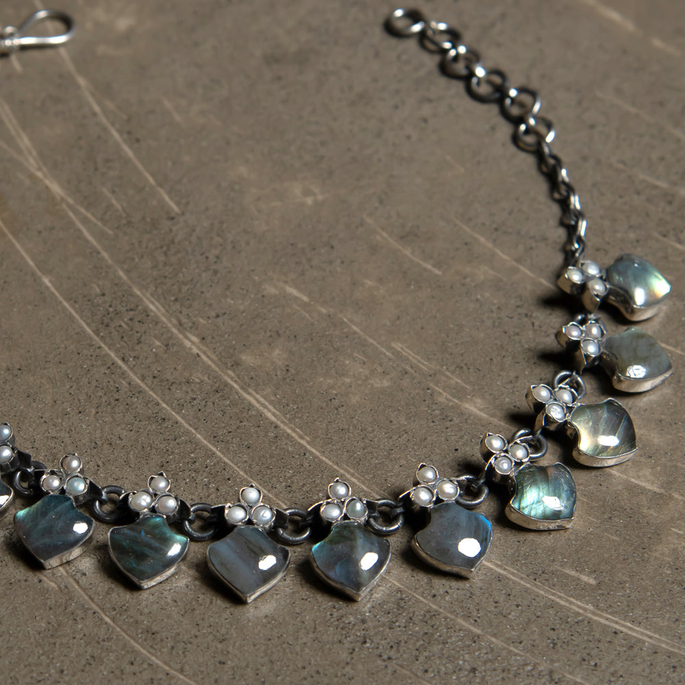 Rosa labradorite necklace