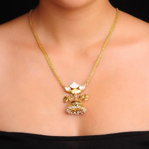 Mother of Pearl Necklace Gold Plated