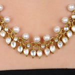 Load image into Gallery viewer, Pearl Crystal Silver Necklace Gold Plated