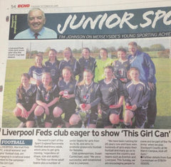 Liverpool Feds ladies football club in the Liverpool Echo newspaper