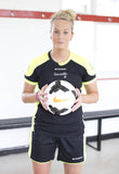 Lily Agg of the WSL Millwall Lionesses sporting the Stanno Campione Women's Football Shirt