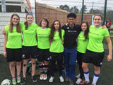 Outlaws FC sporting the Errea Ramos women's fit football shirt during the FA People's Cup