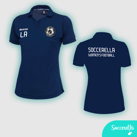 Soccerella - Errea Ayers Ladies Women's-Fit Football Polo Shirt