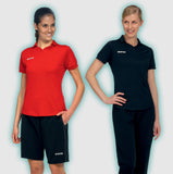 Errea Ayers Women's Fit Football Polo Shirt in action