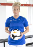 Lily Agg of the WSL Millwall Lionesses sporting the Uhlsport Stream 3.0 Women's Football Shirt