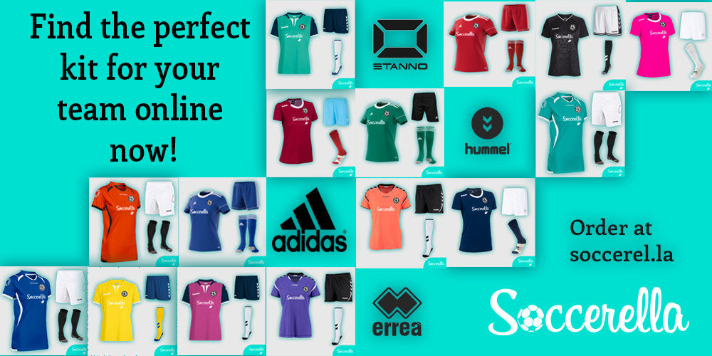 Women's-fit football teamwear (by Hummel, Adidas, Errea, Stanno and Uhlsport) available at Soccerella
