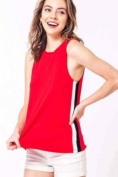 Red Striped Tank