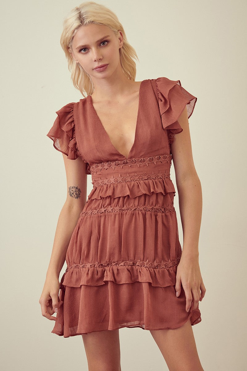 Rose Ruffle Dress