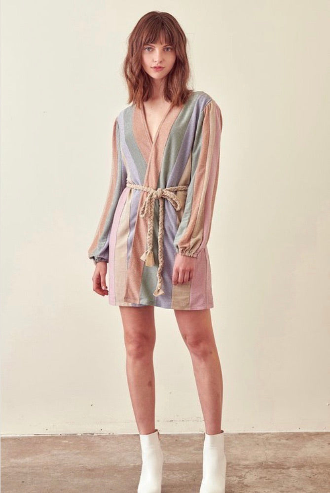 Rainbow Wrap Dress