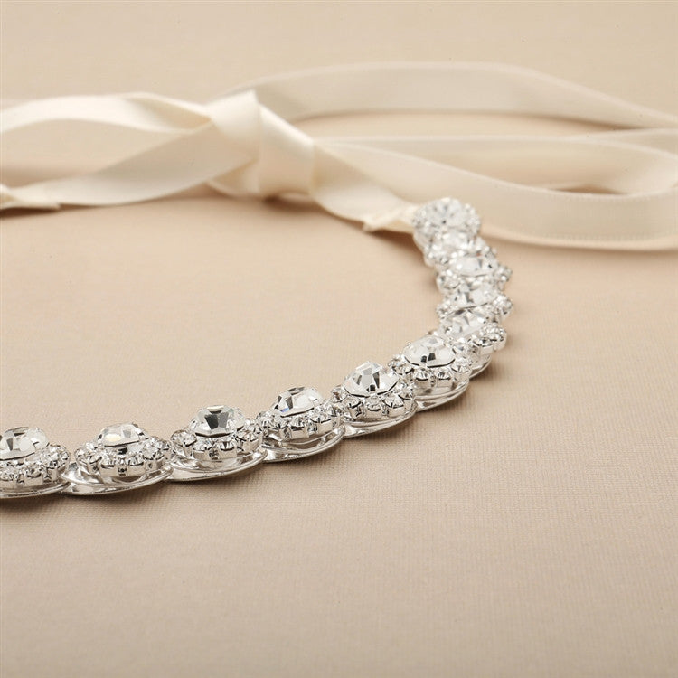 Silver Crystal Bridal Belt