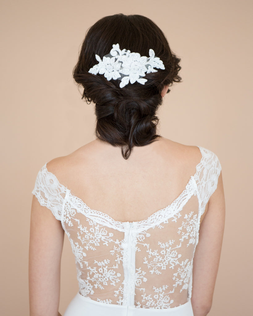 Lace Wedding Comb