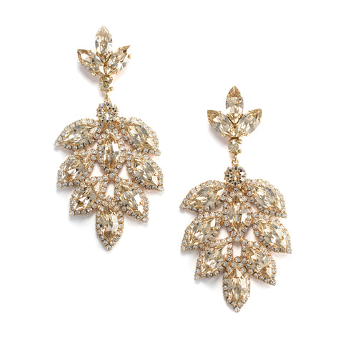 Double-Sided Pearl and Crystal Pave Stud Earrings