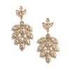 Gold Chandelier Wedding Earrings