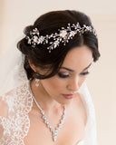 Silver Bridal Hair Vine