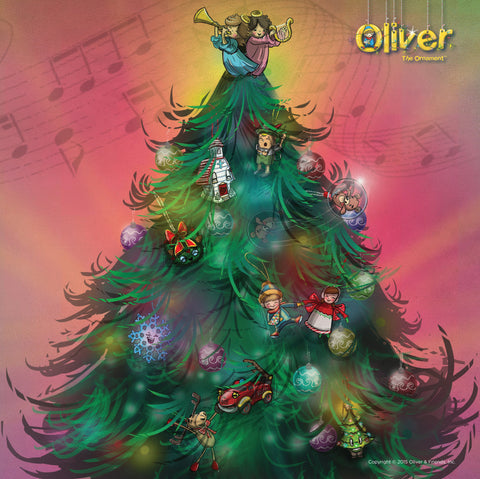 Inner Case of Oliver the Ornament Family Puzzle - Tree