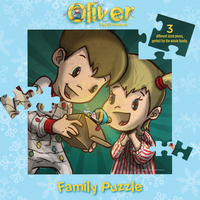 Inner Case of Oliver the Ornament Family Puzzle - Children