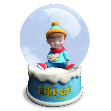 OLIVER THE ORNAMENT MUSICAL SNOW GLOBE