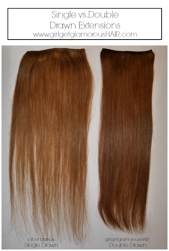 What Are Double Drawn vs. Single Drawn Hair Extensions?