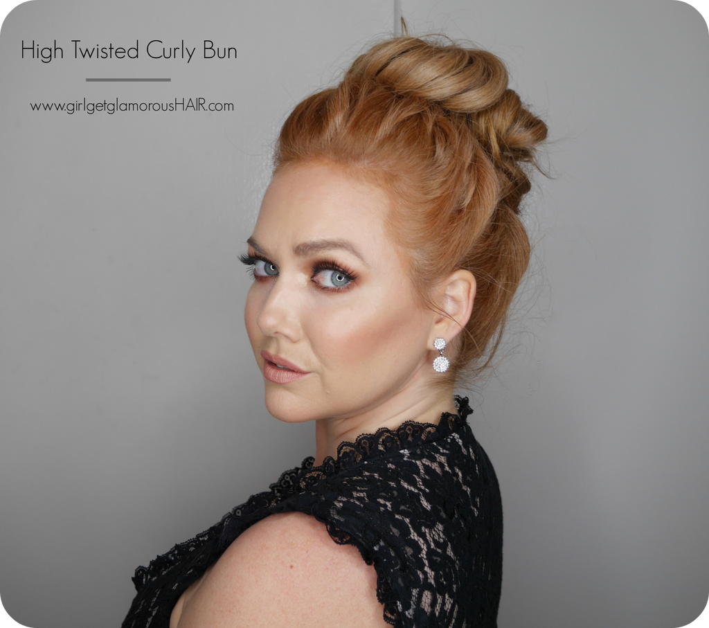 High Twisted Curly Bun | Hair Tutorial
