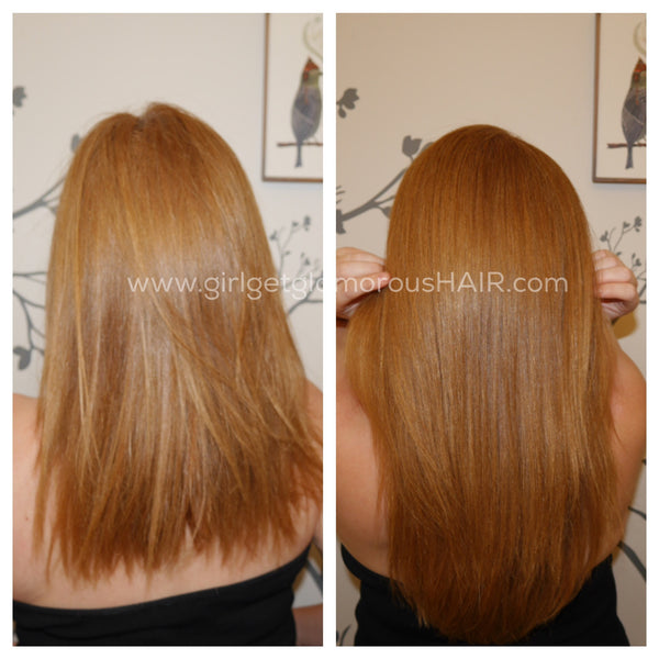 lob to long blend extensions with short hair double drawn best quality remy