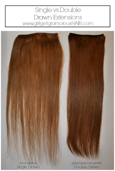 double drawn single hair girlgetglamorousHAIR review vs bellami luxy short hair blend human
