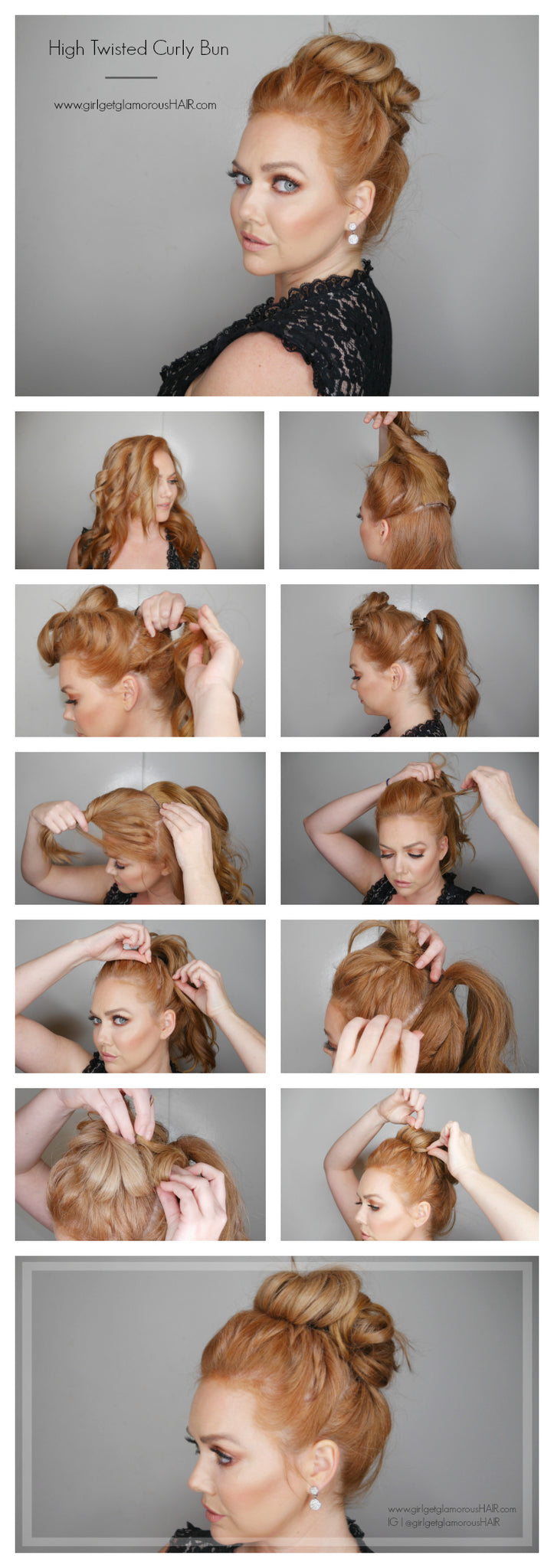 strawberry blonde wedding foraml prom updo easy simple pretty tutorial