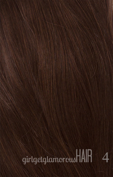 Mocha latte shade 4 dark brown remy hair extensions girl get glamorous hair remy best quality top pmusecretfo Gallery