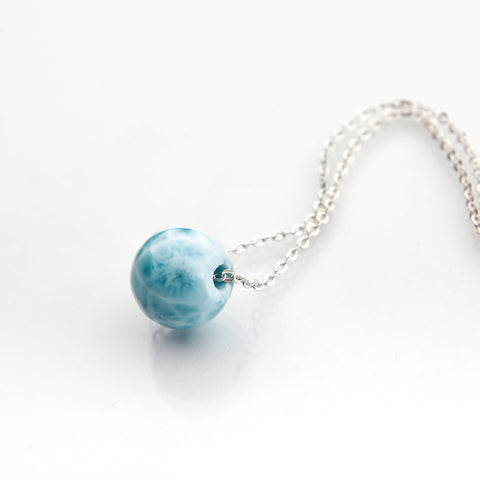 Larimar Bead Necklace, Yosiam