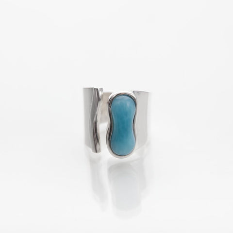 Larimar Statement Ring, Goalie