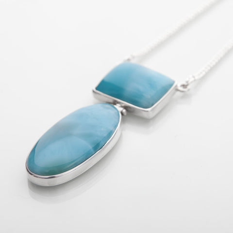 Larimar Stones Necklace, Joyful
