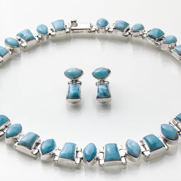 Larimar-Necklace-and-Earrings-Set